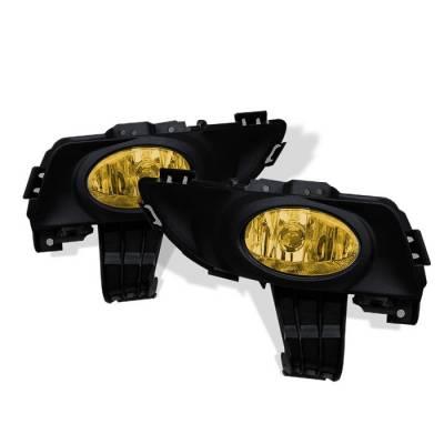 Headlights & Tail Lights - Fog Lights - Spyder - Mazda 3 4DR Spyder OEM Fog Lights - Yellow - FL-MM304-Y