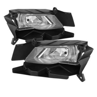 Headlights & Tail Lights - Fog Lights - Spyder - Mazda 3 Spyder OEM Fog Lights - Clear - FL-MM32010-C