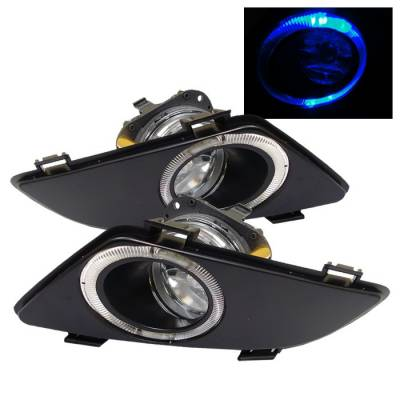 Headlights & Tail Lights - Fog Lights - Spyder - Mazda 6 Spyder OEM Halo Fog Lights - Clear - FL-MM603-HL