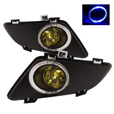 Headlights & Tail Lights - Fog Lights - Spyder - Mazda 6 Spyder OEM Halo Fog Lights - Yellow - FL-MM603-HL-Y