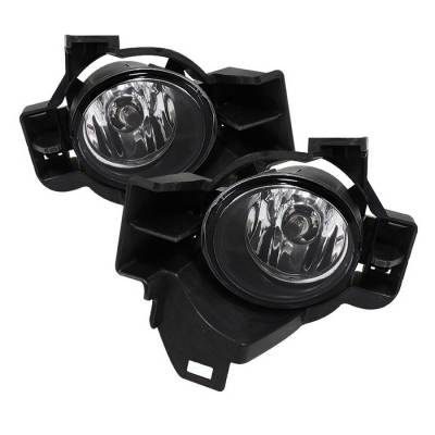 Headlights & Tail Lights - Fog Lights - Spyder - Nissan Altima Spyder OEM Fog Lights - Clear - FL-NA2010-4D-C