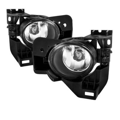 Headlights & Tail Lights - Fog Lights - Spyder - Nissan Maxima Spyder OEM Fog Lights - Clear - FL-NM2010-C