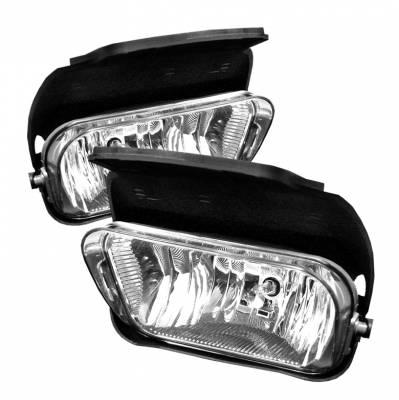 Headlights & Tail Lights - Fog Lights - Spyder - Chevrolet Silverado Spyder Fog Lights - No Switch - Clear - FL-OEM-CS03-C