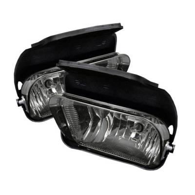 Headlights & Tail Lights - Fog Lights - Spyder - Chevrolet Silverado Spyder OEM Fog Lights - No Switch - Smoke - FL-OEM-CS03-SM