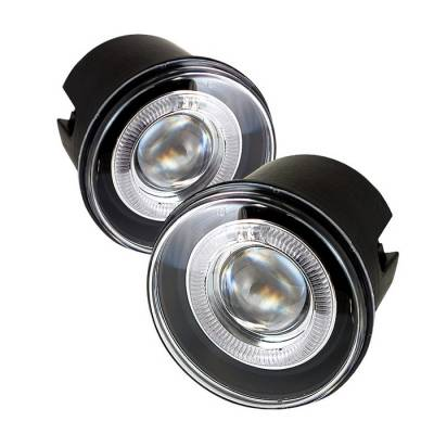 Headlights & Tail Lights - Fog Lights - Spyder - Chrysler 300 Spyder Projector Fog Lights - Clear - FL-P-C300C05-HL