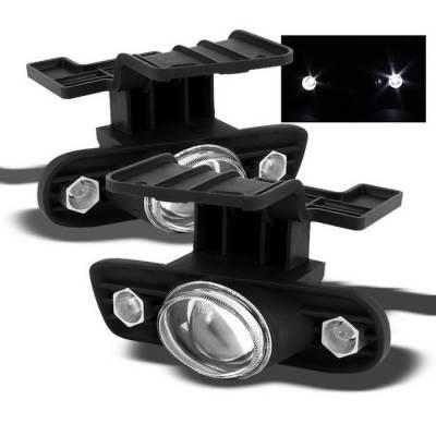 Headlights & Tail Lights - Fog Lights - Spyder - Chevrolet Silverado Spyder Halo Projector Fog Lights - Clear - FL-P-CS99-HL