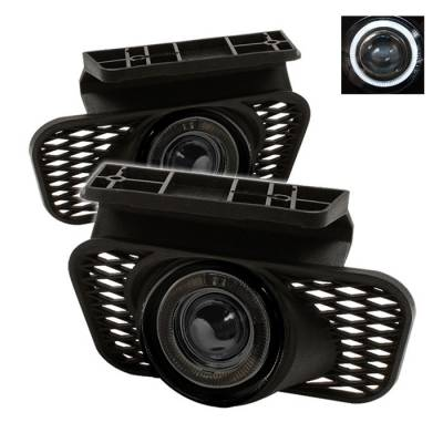 Headlights & Tail Lights - Fog Lights - Spyder - Chevrolet Avalanche Spyder Halo Projector Fog Lights - Smoke - FL-P-CSIL03-HL-SM