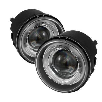Headlights & Tail Lights - Fog Lights - Spyder - Dodge Caliber Spyder Halo Projector Fog Lights - Clear - FL-P-DCH05-HL