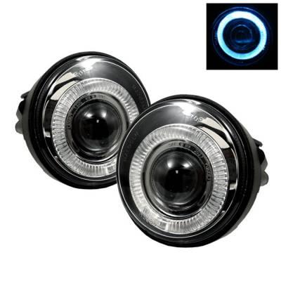 Headlights & Tail Lights - Fog Lights - Spyder - Dodge Neon Spyder Halo Projector Fog Lights - Clear - FL-P-DN03-HL