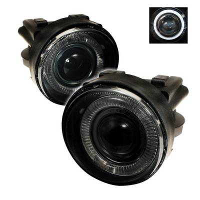 Headlights & Tail Lights - Fog Lights - Spyder - Dodge Neon Spyder Halo Projector Fog Lights - Smoke - FL-P-DN03-HL-SM