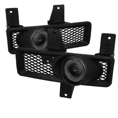 Headlights & Tail Lights - Fog Lights - Spyder - Ford F250 Spyder Halo Projector Fog Lights - Smoke - FL-P-FF15097-HL-SM