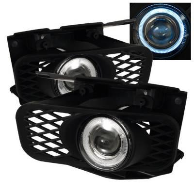Headlights & Tail Lights - Fog Lights - Spyder - Ford F150 Spyder Halo Projector Fog Lights - Clear - FL-P-FF15099-HL