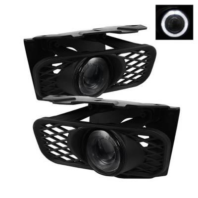 Headlights & Tail Lights - Fog Lights - Spyder - Ford F150 Spyder Halo Projector Fog Lights - Smoke - FL-P-FF15099-HL-SM