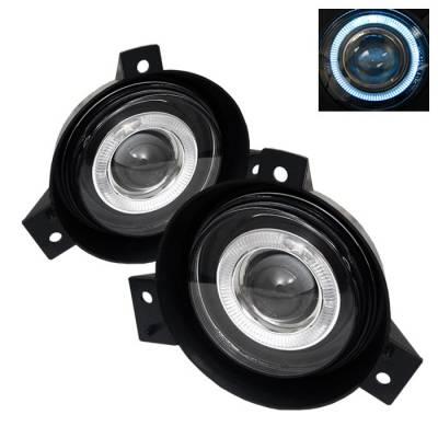 Headlights & Tail Lights - Fog Lights - Spyder - Ford Ranger Spyder Halo Projector Fog Lights - Clear - FL-P-FR01-HL
