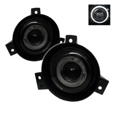 Headlights & Tail Lights - Fog Lights - Spyder - Ford Ranger Spyder Halo Projector Fog Lights - Smoke - FL-P-FR01-HL-SM