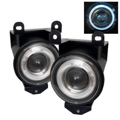 Headlights & Tail Lights - Fog Lights - Spyder - Pontiac Bonneville Spyder Halo Projector Fog Lights - Clear - FL-P-GD99-HL