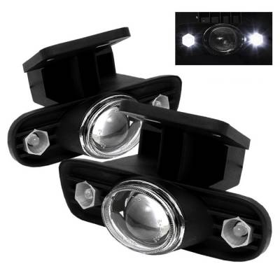 Headlights & Tail Lights - Fog Lights - Spyder - GMC Yukon Spyder LED Projector Fog Lights - Clear - FL-P-GS99-HL