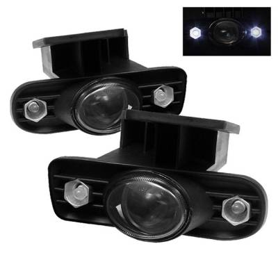 Headlights & Tail Lights - Fog Lights - Spyder - GMC Yukon Spyder LED Projector Fog Lights - Smoke - FL-P-GS99-HL-SM
