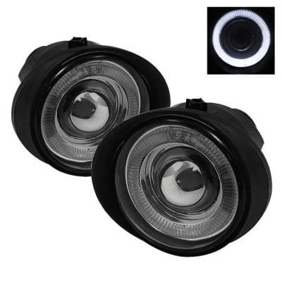 Headlights & Tail Lights - Fog Lights - Spyder - Infiniti FX45 Spyder Halo Projector Fog Lights - Smoke - FL-P-NA02-HL-SM