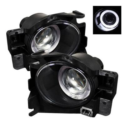 Headlights & Tail Lights - Fog Lights - Spyder - Nissan Altima Spyder Halo Projector Fog Lights - Clear - FL-P-NA08-2D-HL