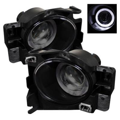 Headlights & Tail Lights - Fog Lights - Spyder - Nissan Altima Spyder Halo Projector Fog Lights - Smoke - FL-P-NA08-2D-HL-SM
