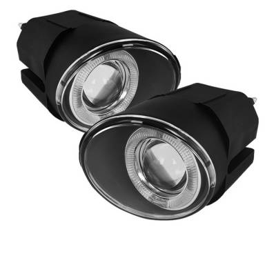Headlights & Tail Lights - Fog Lights - Spyder - Nissan Frontier Spyder Projector Fog Lights - Clear - FL-P-NM00-HL