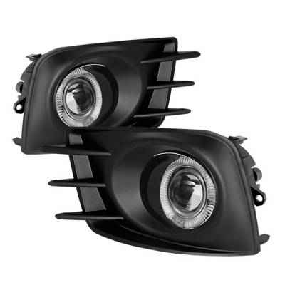 Headlights & Tail Lights - Fog Lights - Spyder - Scion tC Spyder Halo Projector Fog Lights - Clear - FL-P-STC2011-HL