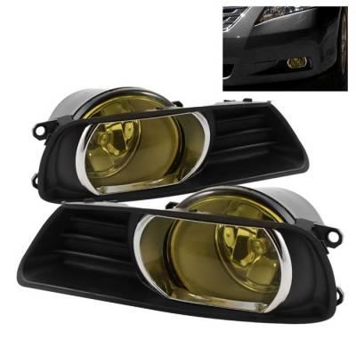 Headlights & Tail Lights - Fog Lights - Spyder - Toyota Camry Spyder OEM Fog Lights - Yellow - FL-TCAM07-Y
