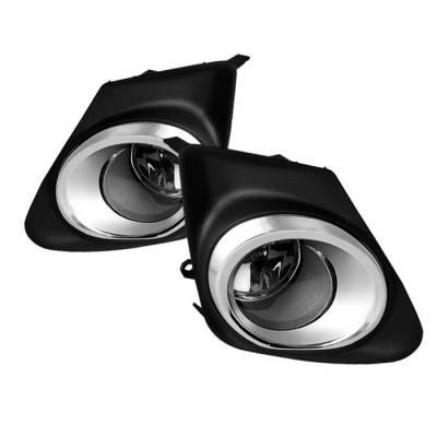 Headlights & Tail Lights - Fog Lights - Spyder - Toyota Corolla Spyder OEM Fog Lights - Clear - FL-TCO2011-C