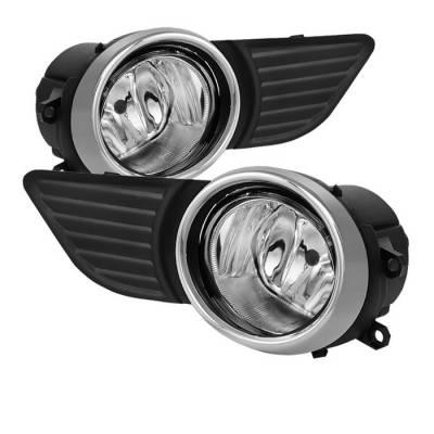 Headlights & Tail Lights - Fog Lights - Spyder - Toyota Sienna Spyder OEM Fog Lights - Clear - FL-TSIE2010-C