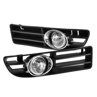 Headlights & Tail Lights - Fog Lights - Spyder - Volkswagen Jetta Spyder OEM Fog Lights - Clear - FL-VJ99-C
