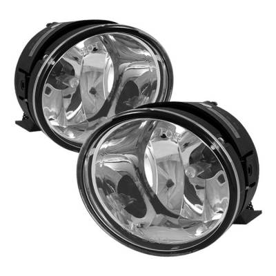 Headlights & Tail Lights - Fog Lights - Spyder - Nissan Titan Spyder OE Style Fog Lights - Clear - FL-WJ-NT04-C