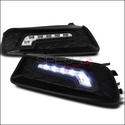 Headlights & Tail Lights - Fog Lights - Spec-D - Toyota Camry Spec-D LED Daytime Running Light Fog Light Cover - LDR-CAM07-RS