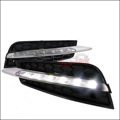 Headlights & Tail Lights - Fog Lights - Spec-D - Chevrolet Cruze Spec-D LED Daytime Running Light Fog Light Cover - LDR-CRU09-PT