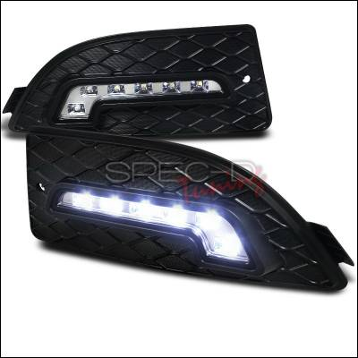 Headlights & Tail Lights - Fog Lights - Spec-D - Acura RSX Spec-D LED Daytime Running Light Fog Light Cover - LDR-RSX06-RS
