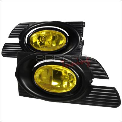 Headlights & Tail Lights - Fog Lights - Spec-D - Honda Accord 4DR Spec-D OEM Style Fog Lights - Yellow - LF-ACD014AMOEM-RS