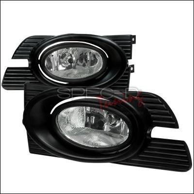 Headlights & Tail Lights - Fog Lights - Spec-D - Honda Accord 4DR Spec-D OEM Fog Lights Clear - LF-ACD014COEM-WJ