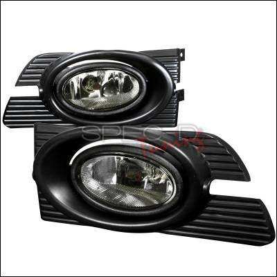 Headlights & Tail Lights - Fog Lights - Spec-D - Honda Accord 4DR Spec-D OEM Fog Lights Smoke - LF-ACD014GOEM-WJ