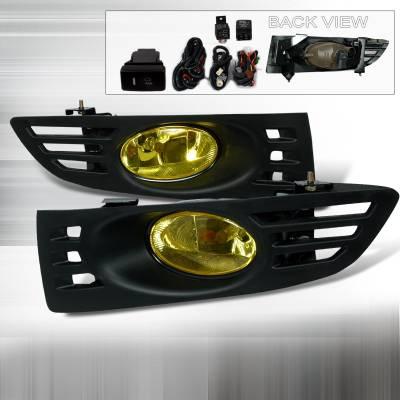 Headlights & Tail Lights - Fog Lights - Spec-D - Honda Accord 2DR Spec-D OEM Fog Lights - Yellow - LF-ACD032AMOEM
