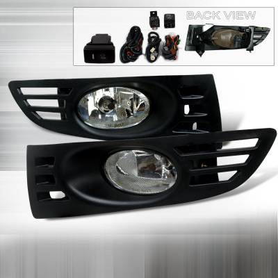 Headlights & Tail Lights - Fog Lights - Spec-D - Honda Accord 2DR Spec-D OEM Fog Lights - Clear - LF-ACD032OEM