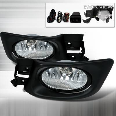 Headlights & Tail Lights - Fog Lights - Spec-D - Honda Accord 4DR Spec-D OEM Fog Lights - Clear - LF-ACD034OEM
