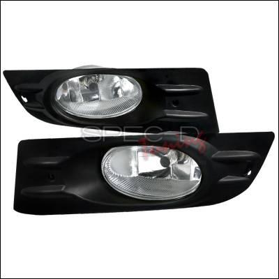 Headlights & Tail Lights - Fog Lights - Spec-D - Honda Accord 2DR Spec-D Fog Light - Clear - LF-ACD062OEM-RS
