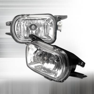 Headlights & Tail Lights - Fog Lights - Spec-D - Mercedes-Benz C Class Spec-D Crystal Fog Lights - Clear - LF-BW20301