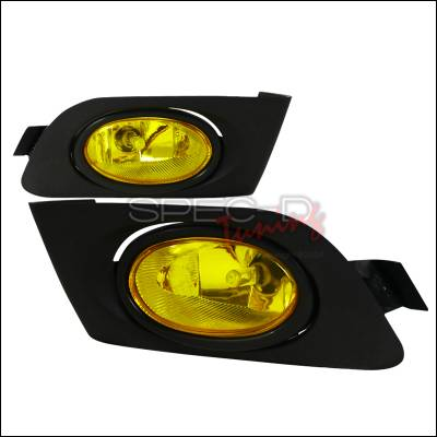 Headlights & Tail Lights - Fog Lights - Spec-D - Honda Civic Spec-D OEM Fog Lights - Yellow - LF-CV01AMOEM-RS