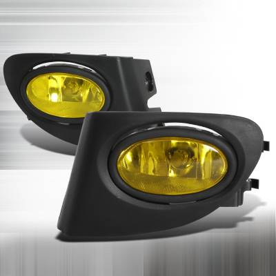Headlights & Tail Lights - Fog Lights - Spec-D - Honda Civic HB Spec-D OEM Fog Lights - Yellow - LF-CV023AMOEM