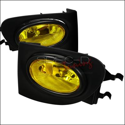 Headlights & Tail Lights - Fog Lights - Spec-D - Honda Civic HB Spec-D Fog Lights - Yellow Lens - LF-CV023AMOEM-HZ