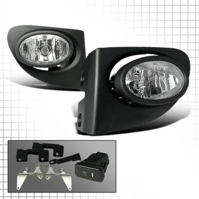 Headlights & Tail Lights - Fog Lights - Spec-D - Honda Civic HB Spec-D OEM Fog Lights - Clear - LF-CV023OEM
