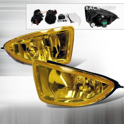 Headlights & Tail Lights - Fog Lights - Spec-D - Honda Civic Spec-D OEM Fog Lights - Yellow - LF-CV04AMOEM