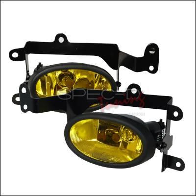 Headlights & Tail Lights - Fog Lights - Spec-D - Honda Civic 2DR Spec-D OEM Fog Lights - Yellow - LF-CV062AMOEM