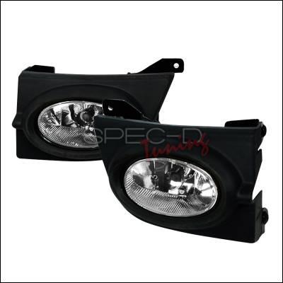 Headlights & Tail Lights - Fog Lights - Spec-D - Honda Civic 4DR Spec-D OEM Fog Lights - Clear - LF-CV064OEM